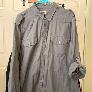 Men's American Rag Military style Epaulette shirt